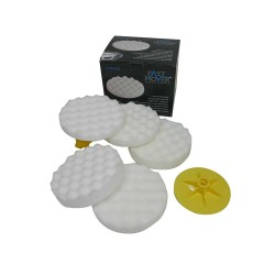 Compounding Pads Hard White Waffle 115mm (5pcs)