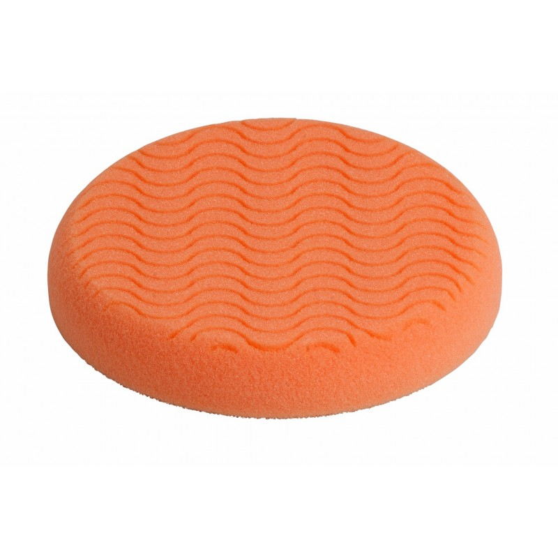 Compounding Pad 150 x25mm Ventilated Hook & Loop Orange