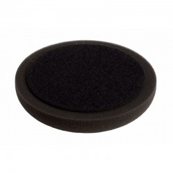 Hook & Loop Polishing Pad Soft Black 150 x 25mm Plain