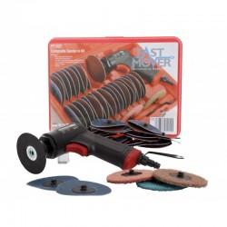 Air Sander 75mm Composite Handle 37pc kit