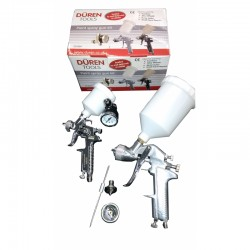 Duren Gravity Spray Gun Kit 600 & 125cc Guns 1.3mm Set Up