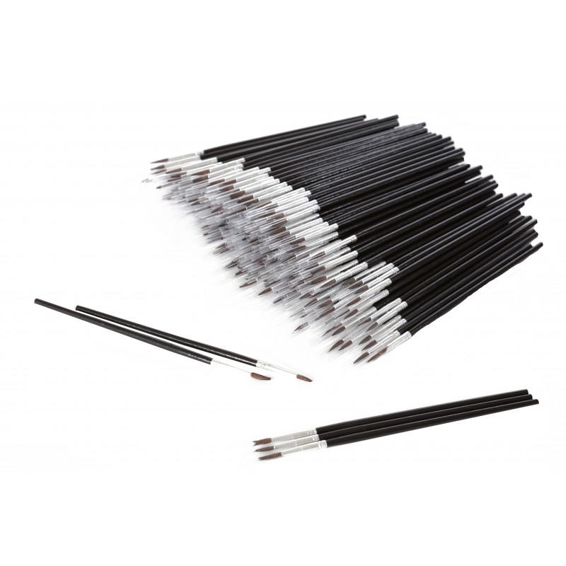 Touch Up Brushes No 2, 4mm, 100pcs